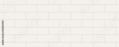 Fotografia White horizontal rectangle marble ceramic tiles
