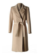 Camel Coat For Woman, Isolated On White