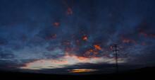 Dark Blue Sky After Sunset.