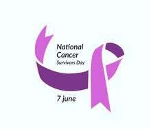 National Cancer Survivors Day. Vector Illustration