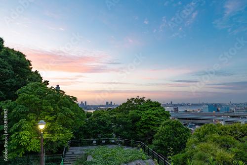 神奈川県横浜市 港の見える丘公園から見た景色 Fototapeta