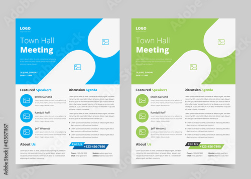 Town hall meeting flyer template. Conference poster leaflet poster template. Town hall meeting flyer samples.