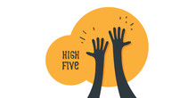 High Five Icon Simple Illustration