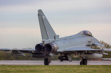 RAF Coningsby Typhoon Taxiing For Night Training Stock - Photo.jpg