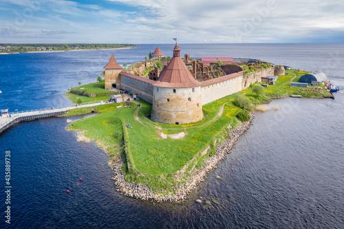 Fotografia, Obraz Oreshek fortress at the source of the Neva River on Lake Ladoga
