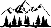 Mountain Forest Camping Hiking Cut File, SVG , Cricut, Silhouette , Vector