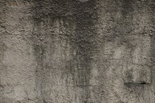 Gray Black Stone Texture Of Soot On The Concrete Wall