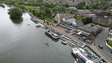 Henley On Thames  Rowers Oxfordshire UK Aerial Footage