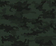 Green Digital Camouflage, Vector Military Camouflage, Modern Pattern For Printing Clothing, Fabric.