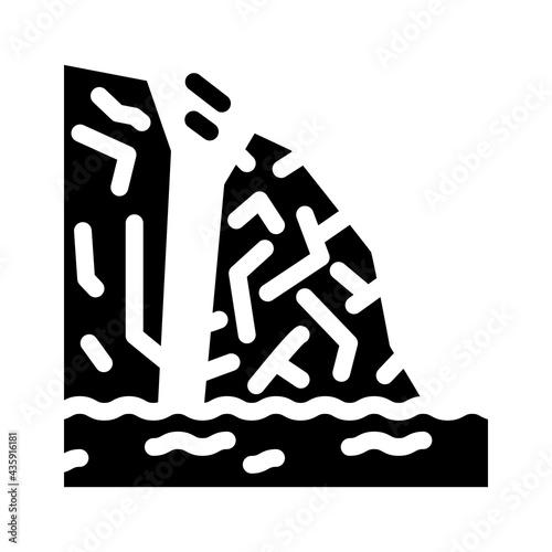 Photo breakaway iceberg disaster glyph icon vector