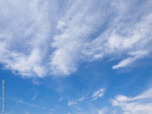 Valokuva 青空と雲の背景用素材
