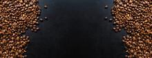 Coffee Beans On Dark Background