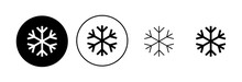 Snow Icon Set. Snowflake Icon Vector