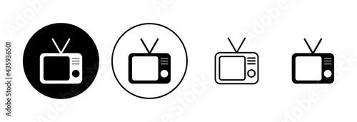 Fotografiet Tv icon set. television icon vector