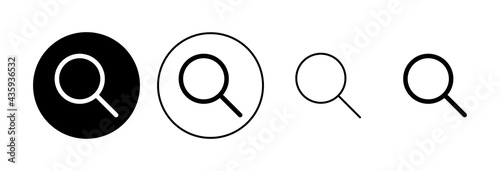 Fotografiet Search icon set. search magnifying glass icon