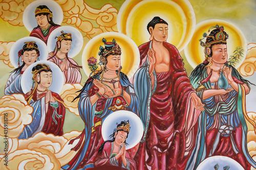 Valokuva Mural at Puh Toh Tze (Poh Toh Tse, Pu Tuo Si) Chinese Buddhist temple, Kota Kina