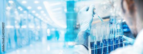 Slika na platnu banner background, health care researchers working in life science laboratory, m