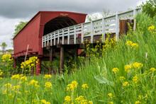 Roseman Covered Bridge Near Winterset, Madison County, Along The Covered Bridges Scenic Byway, Iowa