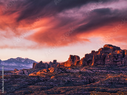 wonderful scenic view  in Arches National Park Fotobehang