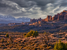 Wonderful Scenic View  In Arches National Park