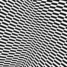 Abstract Background Consists Of Black And White Stripes Intersecting At Different Angles