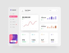 Wireframes Screens. Dashboard UI And UX Kit Design.