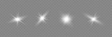 Glow Light Effect. Star Burst With Sparkles. Vector Illustration.