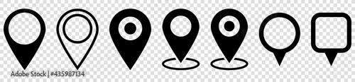 Cuadros en Lienzo Set of map pin icons