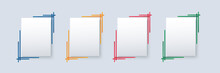 Set Of Modern Square Isolated Color Frame Template Background Vector Illustration EPS10