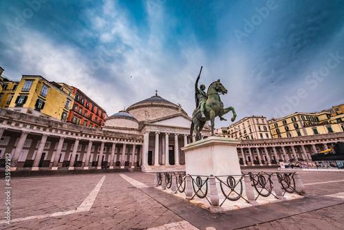 The main square in the city center of Naples - Piazza del Plebiscito