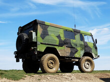 Military Vehicle On The Road
