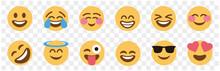 Basic Face And Hand Emojis, Emoticons, Emotions Flat Vector Illustration Symbols.