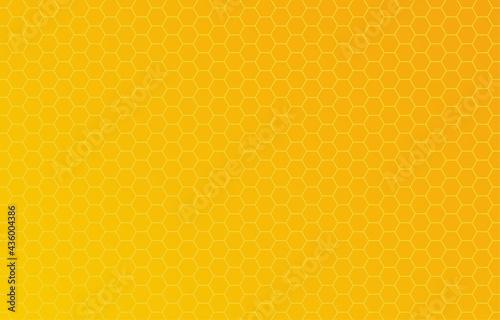 Honey hexagon bee hive honeycomb pattern seamless yellow and orange gradient background vector.