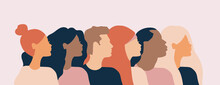 Cross Cultural, Racial Equality, Multi Ethical, Diversity People, Woman Man Power, Empowerment, Tolerance, Discrimination Concept. Flat Vector Illustration.