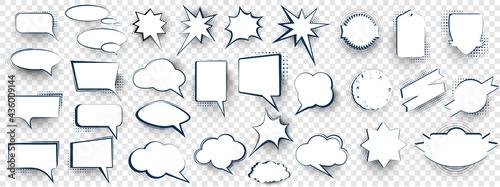 Fotografia Set of speech bubbles