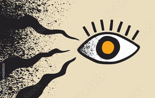 Stampa su Tela Black Fungus affects human eyes