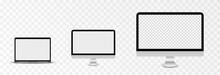 Screen Vector Mockup. Mockup Of Laptop, Monitor With Blank Screen. PNG.