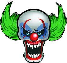 Illlustration Of A Evil Clown
