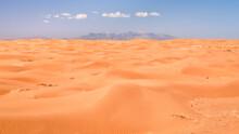 Midday View Of Sand Dunes Field In San Rafael Swell Area In Utah (Lower San Rafael Road)
