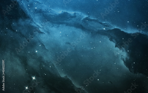 abstract night light blue sky overlay falling overlay texture with starlight twinkling space universe pattern on space Fotobehang