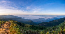 Panorama Walkway In The Cliffs Of Kew Mae Pan ,The Doi Inthanon National Park In Chiang Mai, Thailand.