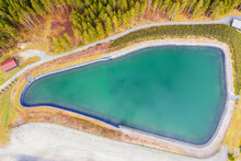 An Artificially Dammed Lake For Artificial Snowmaking From Above