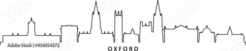 Fotografie, Obraz OXFORD England SKYLINE City Silhouette