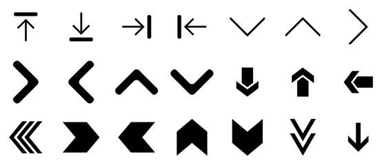 black arrow icon set