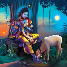 Lord Krishna High Resolution Digital Painting
