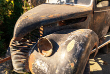 Car. Old  Truck Body. Abandoned Automobile.