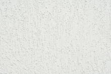Plaster On A White Wall. Concrete Wall Texture Close Up.