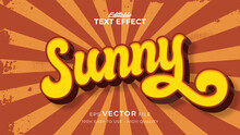 Editable Text Style Effect - Retro Summer Text In Grunge Style Theme
