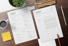 Easy To Edit And Customise, With A Single Page Resume Design, Cover Letter Templates.  - A4 Size & Letter Size  - Print Ready