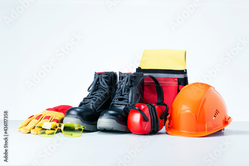 Wallpaper Mural Personal protective equipment on light grey background